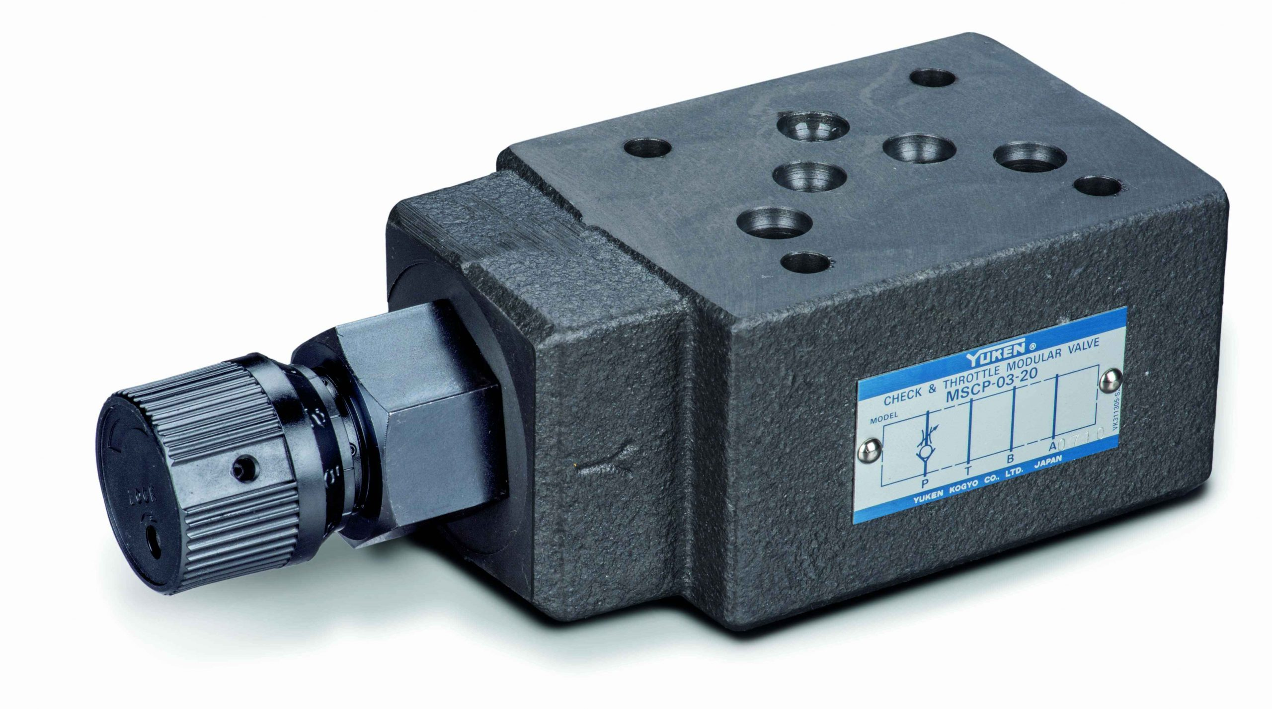 cetop 5 flow control valve on p with check