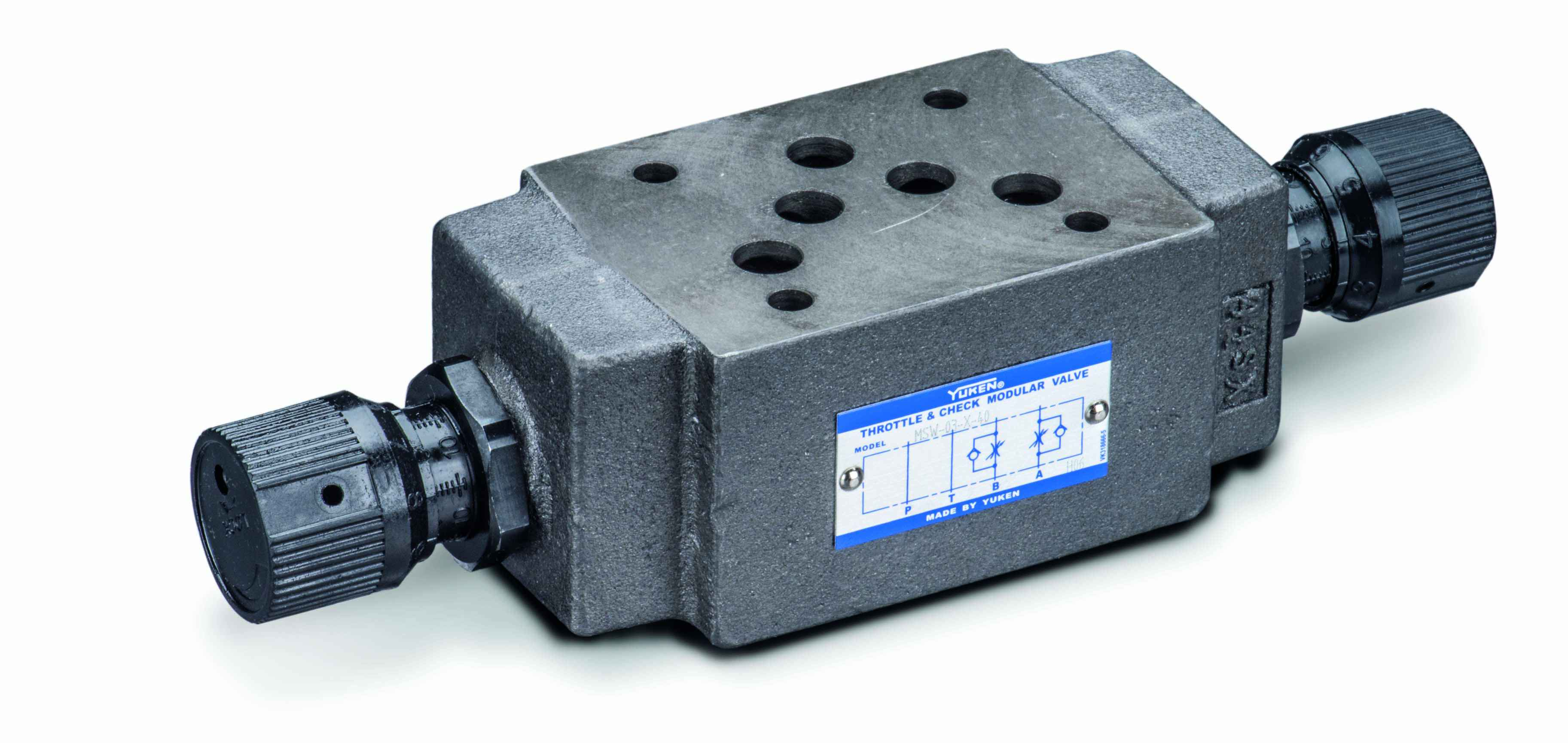 Cetop 5 (NG10) Modular Valves > Flow control Valve With Bypass Check